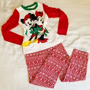 Women's Minnie and Mickey Holiday PJ Set - Small